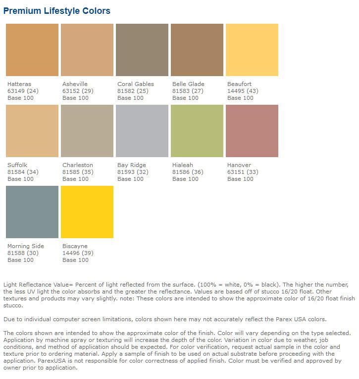Lahabra Premium Lifestyle Color Chart
