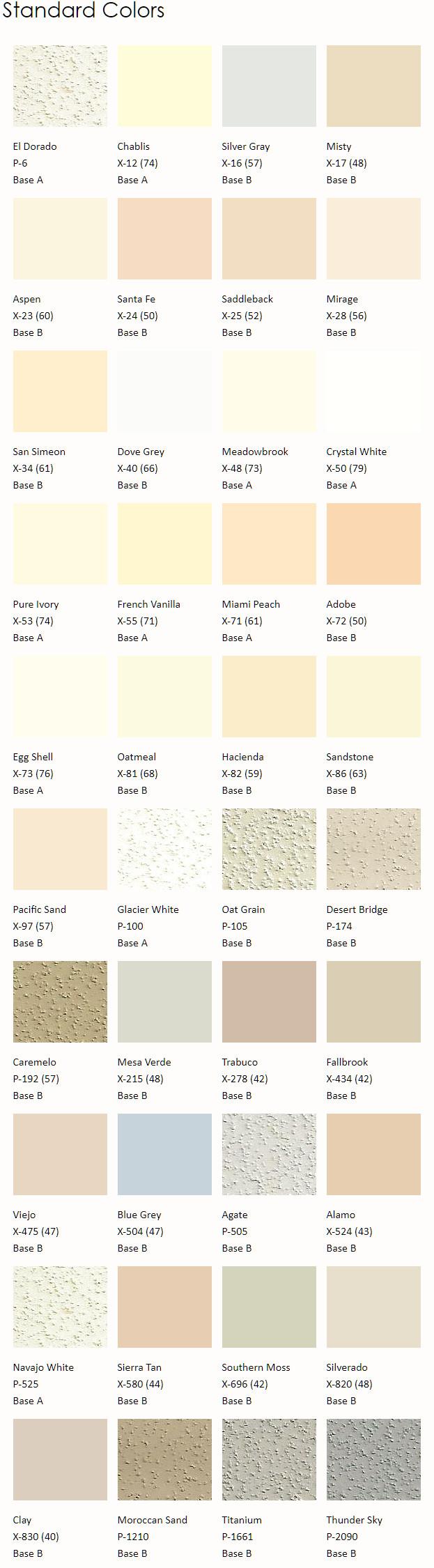 Merlex Standard Colors