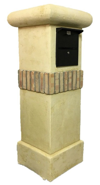 Stucco And Brick Column Mailbox