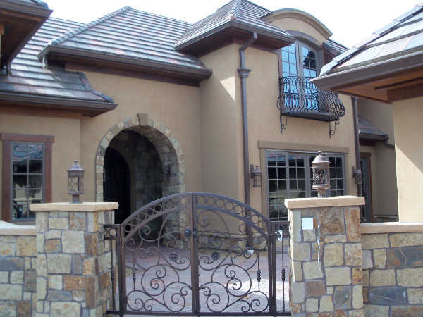 Tuscan Style Stucco And Stone Look