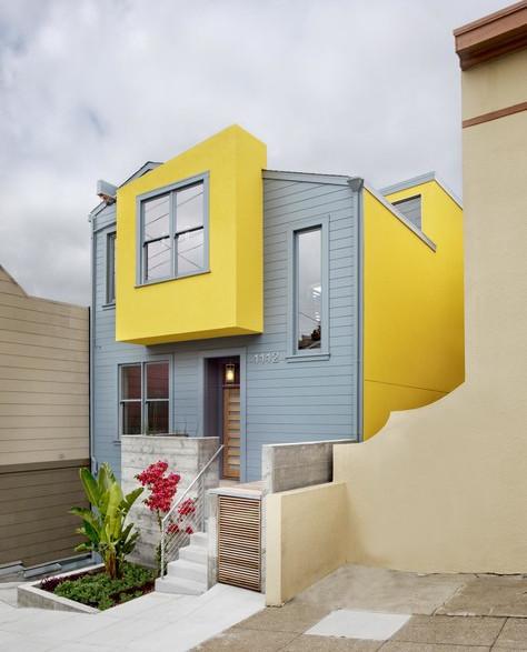 A Modern Yellow And Light Blue Mix