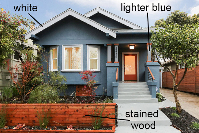 Accent Colors Used For Blue House