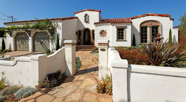 Another Beautiful White Spanish Style Home