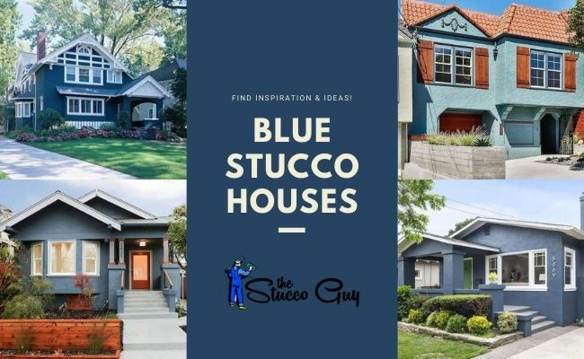 Blue Stucco House Ideas