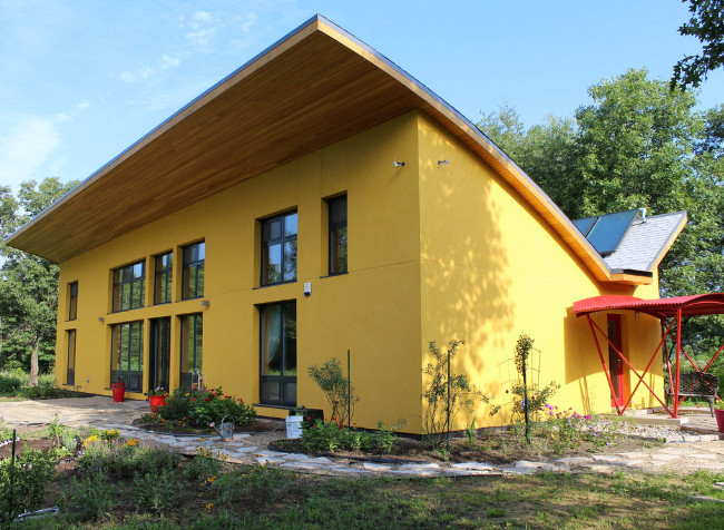 Interesting Architecture With A Smoother Yellow Finish