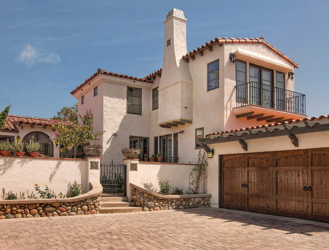 Spanish Revival Style In A Lighter Tan Color