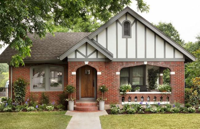 Tudor Style Home With Brick