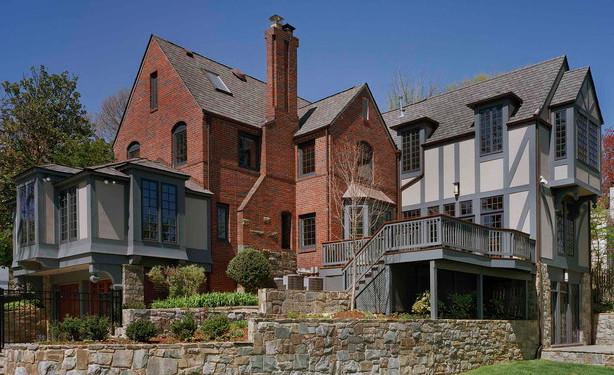 Tudor Style House With Brick And Stucco