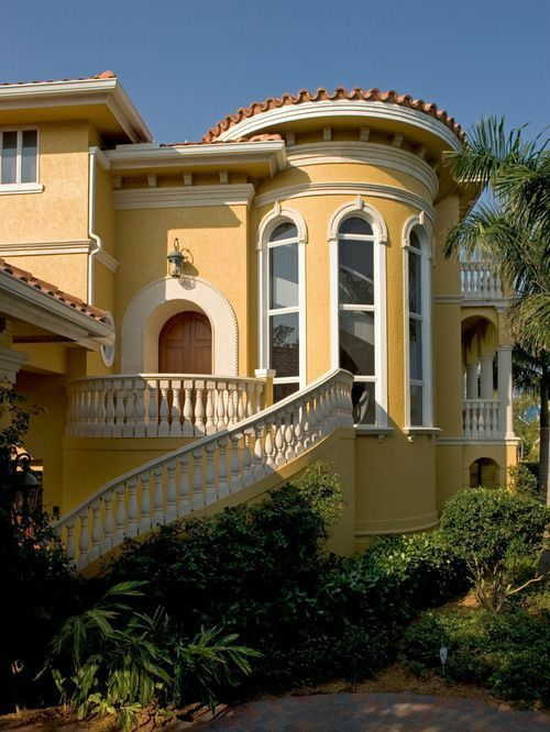 Yellow Victorian With Bright White Trim